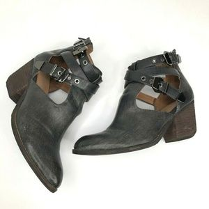 Jeffrey Campbell Ibiza Everwell Ankle Boots Black